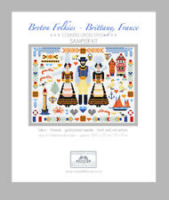 Breton Folkies Brittany France Counted Cross Stitch Kit riverdrift House