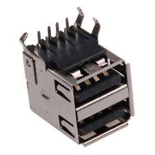 Double USB Type A femelle Coudé à 90° a Souder SMD SMT Connecteur Assemblage