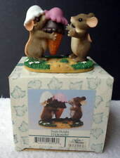 Charming Tails Item 83/807 Triple Delight Fitz & Floyd In Box Figurine #D4