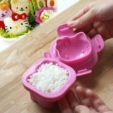 Cute Pink Hello Kitty Sushi Egg Rice Mold Mould Bento Box For Kids