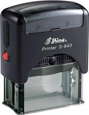 Shiny s-843 personalizzata self ink indirizzo TIMBRO 47 x 18 mm, ecc.