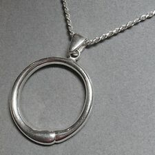 Sterling Silver Ouroboro Snake Eating Tail Endless Circle Pendant Rope Necklace