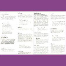 COLORBOK  VELLUM SENTIMENTS MEMORIES Creative Impulse Dictionary Phrases