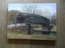 "The Old Humpback Bridge, covered 12 x 16"" Canvas Print by artist Billy Jacobs"