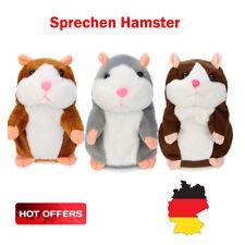 Sprechende Hamster Kuscheltier Plüschtier Spielzeug Talking Toy Maus DJ Rap Neu