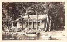 Rockwood Maine Cabin Caribou Real Photo Antique Postcard K44430