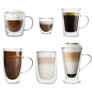 Thermogläser Doppelwandig 2 tlg. SET Latte Macchiato Espresso Kaffee Tee FLORINA