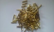 "100 ~ 1/8"" Diameter x 1/2"" Long Brass Plated ""Cymbal Sizzlers"" Split Rivets"