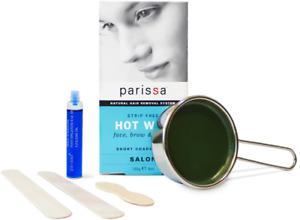 Parissa Hot Wax, Bikini & Brazilian Waxing Kit with Strip Free Hard Wax, 4oz. 3
