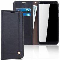 Samsung Galaxy A6 Plus 2018 Etui pour Téléphone Mobile Schutz-Tasche Clapet Noir