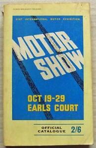 INTERNATIONAL MOTOR SHOW EARLS COURT Catalogue Oct 1966 CARS Caravans