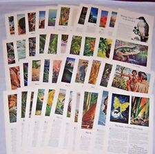Lot of 43 Ads~TRAVELERS INSURANCE 1941-1952 Animals,Indians,Fish,History,Birds++