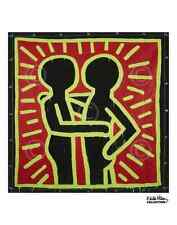 Untitled, 1982 couple in black red and green Keith Haring Art Print Poster 11x14