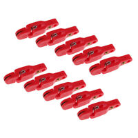 10pc Padded Heavy Tension Snap Release Clip for Weight,Planer Board,Kite Red