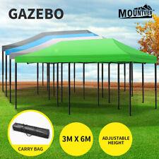 Mountview Gazebo Marquee Gazebos Tent 3x6 Outdoor Camping Canopy Wedding Folding