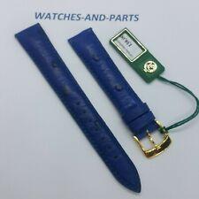 Dark Blue Ostrich Leather Strap 16mm 16/14 NEW GENUINE ORIGINAL Kaufmann