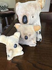 More details for vintage koala bears real fur - set of 3