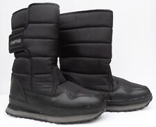 NEW Campri Men's Black Snow Boots UK 10 Fleece Lined Apres Ski Winter Boots