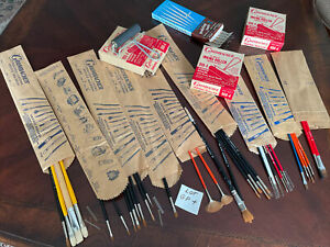 grumbacher brushes Mixed lot, Vintage, New