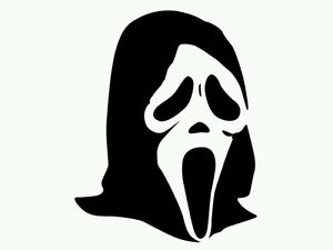SCREAM MASK Halloween Vinyl Decal Car Window Wall Sticker CHOOSE SIZE COLOR