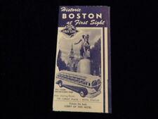 Vintage 1940's Gray Line Bus Historic Boston Travel Brochure Copley Plaza Q165