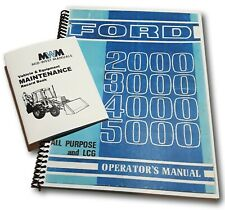 Ford 2000 3000 4000 5000 Tractor Owners Operators Manual New Print Bundle