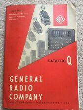 1961 General Radio Company Catalog Q Electronic Equip for Science &Industry Nice