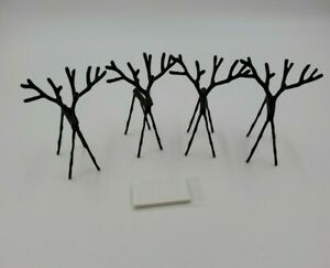 Pottery Barn Twig Reindeer Place Card Holders Set Of 4 Bronze Finish RARE