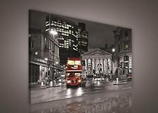 LEINWAND BILD WANDBILD BILDER (PP298O1) London Bus Stadt Stadtisch 100x75cm