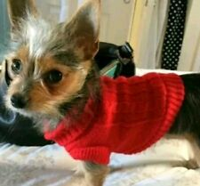 XXS Chihuahua RED Pet Dog Clothes KNIT JUMPER COAT PUPPY EXTRA Extra SMALL