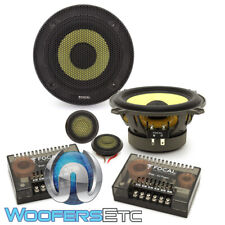 "FOCAL ES-130K 5.25"" 80W RMS K2 POWER COMPONENT SPEAKERS TWEETERS CROSSOVERS NEW"