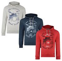 Lee Cooper New Men's Hooded Sweatshirt Swayland Fleece Hoodie Grey Blue Red Top