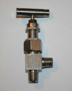 "1/4"" MNPT 316ss Angle Needle Valve (6000 Psi) Whitey Swagelok SS-3NTRM4-A-SH"