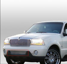 2003 2004 2005 LINCOLN AVIATOR POLISHED FRONT BUMPER LOWER BILLET GRILLE GRILL
