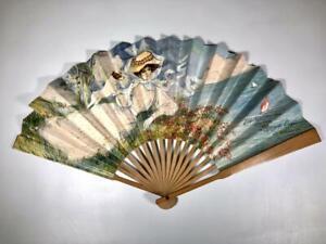Antique Art Deco Paper Hand Fan 1909 Elks Reunion Los Angeles, Advertising Fan
