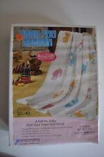 Vintage Baby Afghan Kit Wonderart #2805 Baby Zoo Afghan New