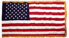 3X5 FT US AMERICAN FLAG PARADE POLE HEM GOLD FRINGE Indoor Outdoor Sewn Nylon