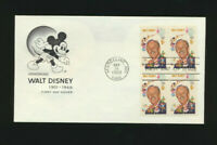 1355  Walt Disney Mickey Mouse House of Farnam Cachet FDC UA Block 1968 (D30-B)