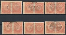 Newfoundland 1857 set pairs Oneglia COPIES Forgery, Counterfeit, Fake.