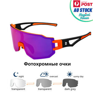 Colorful UV400 Polarized Photochromic MTB Bike Bicycle Sunglasses Racing Eyeware