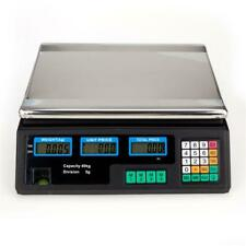 Digital Price Weighing Scale Kitchen Shop Market Vegetable Fruit Commercial 40KG