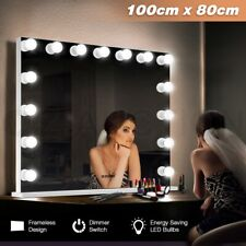 Maxkon Frameless Makeup Mirror Dimmer 15 LED Light Bulb Hollywood Vanity Beauty