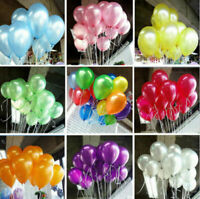 20/50/100pcs Colorful Pearl Latex Balloon Celebration Birthday Party Wedding 10""