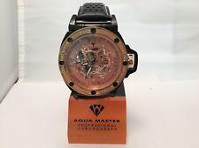 Men Aqua Master Automatic Skeleton .24 ct Diamond Mens Steel Watch W#331
