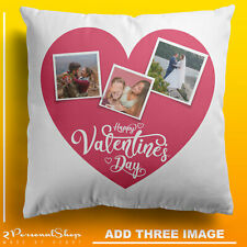 Personalised Photo Pillowcase Cushion Pillow Insert with Filling Valentines Day