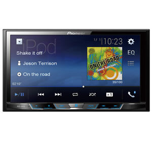 "Pioneer MVH-300EX Double 2 DIN MP3/WMA Digital Media Player 7"" LCD Bluetooth"