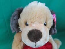 New Dandee Secret Pocket Love Heart Brown Blonde Tan Puppy Dog Plush Stuffed Toy