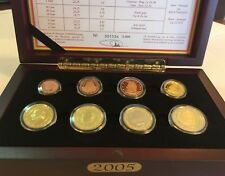2005 Belgium 8 Coins Official Euro Set National Collection Mintage-3,000