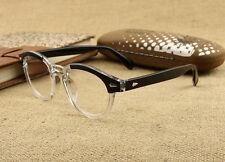 Vintage Retro Women Men eyeglass Frame Depp Glasses Eyewear Black+Clear RX