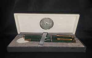 14K Sheaffer 1082 Green Lacquer & Gold Fountain and Ball Pen Set (Brand New!)